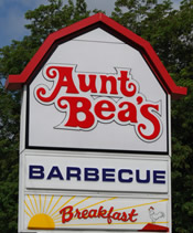 Aunt Beas's Barbecue Sign